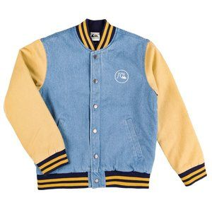 Quiksilver Radicals Log Letterman Varsity Jacket